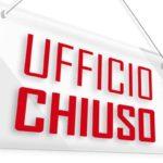 CHIUSURA UFFICI 7 E 8 DICEMBRE 2020